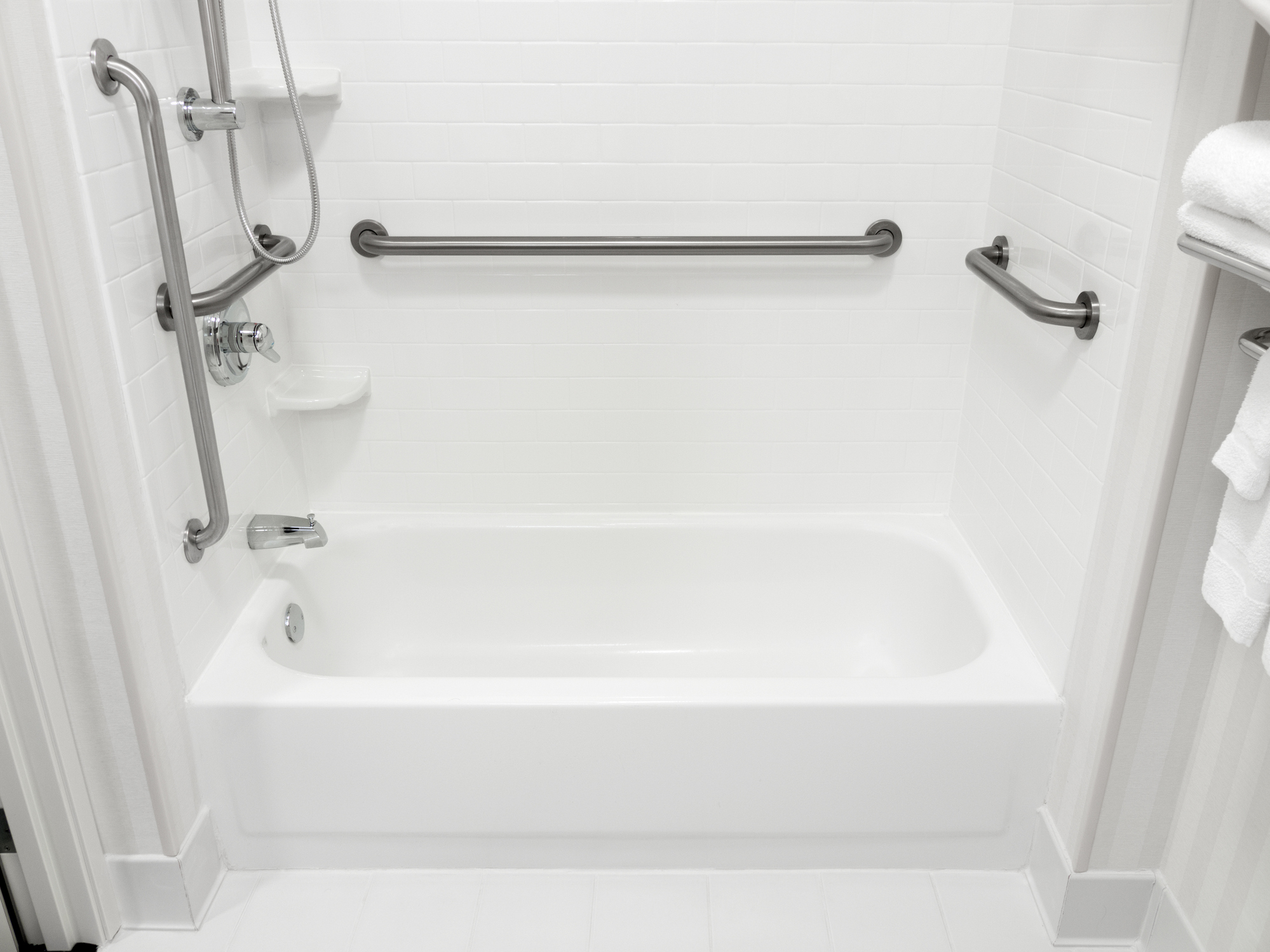 Grab bars for shower