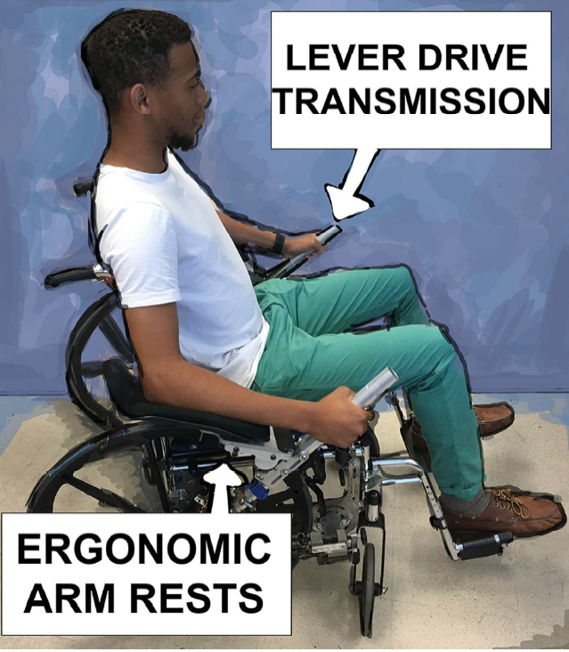 Novel Lever propelled wheelchair