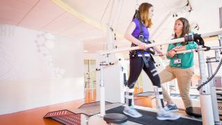 Patient sessions are pain free and fun at the Motion Analysis Center