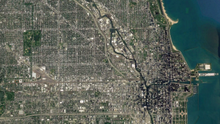 Satellite image of Chicago