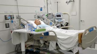 The manikin in the Sim Lab