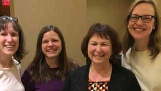 Leora Cherney, Edie Babbitt, Julia Carpenter, Elissa Conlon at ANCDS annual meeting