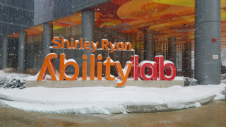 AbilityLab Sign with snow
