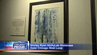 Tobi's art, a past patient at Shirley Ryan AbilityLab