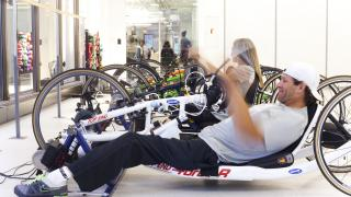 Handcycling at the Sports and Fitness Center
