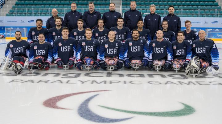 2018 U.S Paralympics sled hockey team