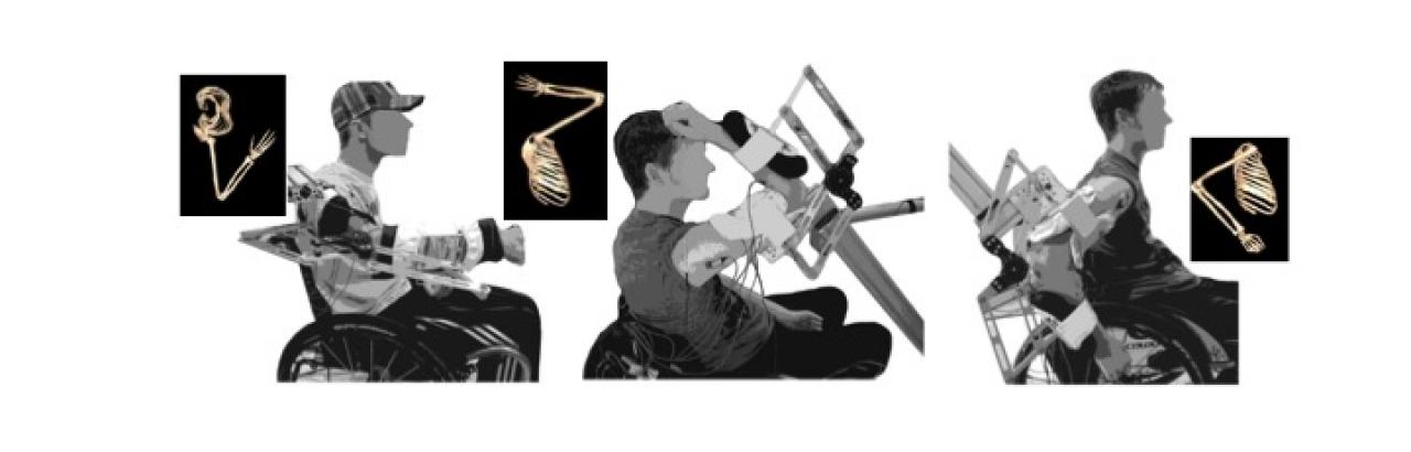 Biomechanical evaluation in different functional postures, in the lab and in silico