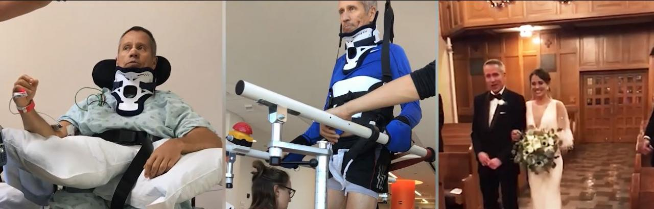 The progress made by Andy, a spinal cord injury patient