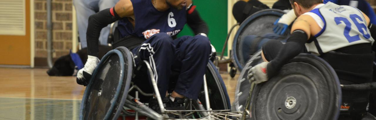 Wheelchair Rugby is available at AbilityLab Sports Center