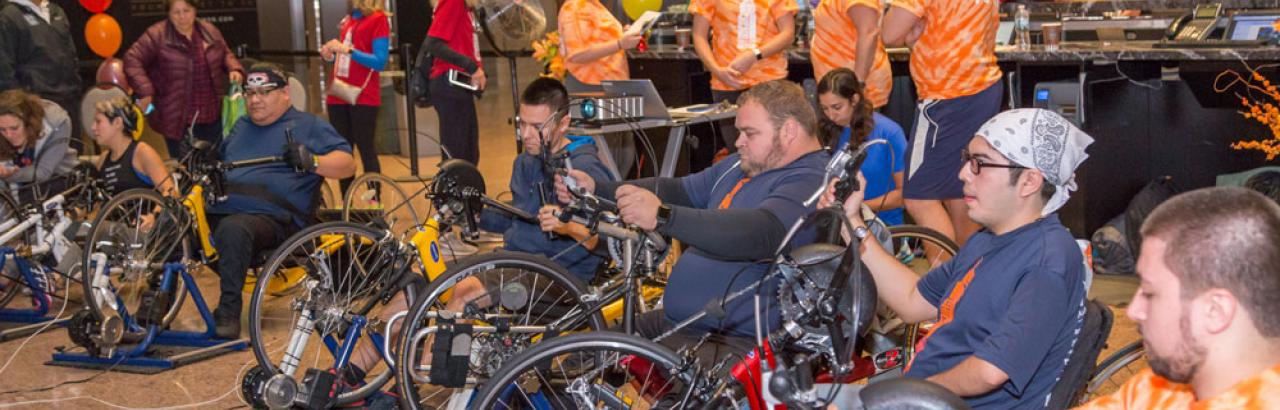 hand-cycling at skyrise chicago
