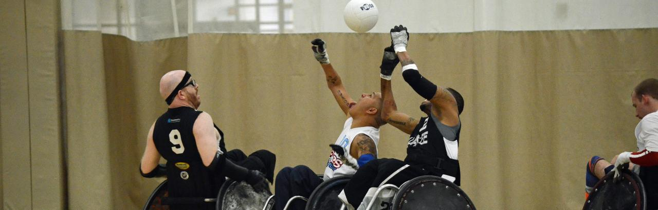Wheelchair rugby game