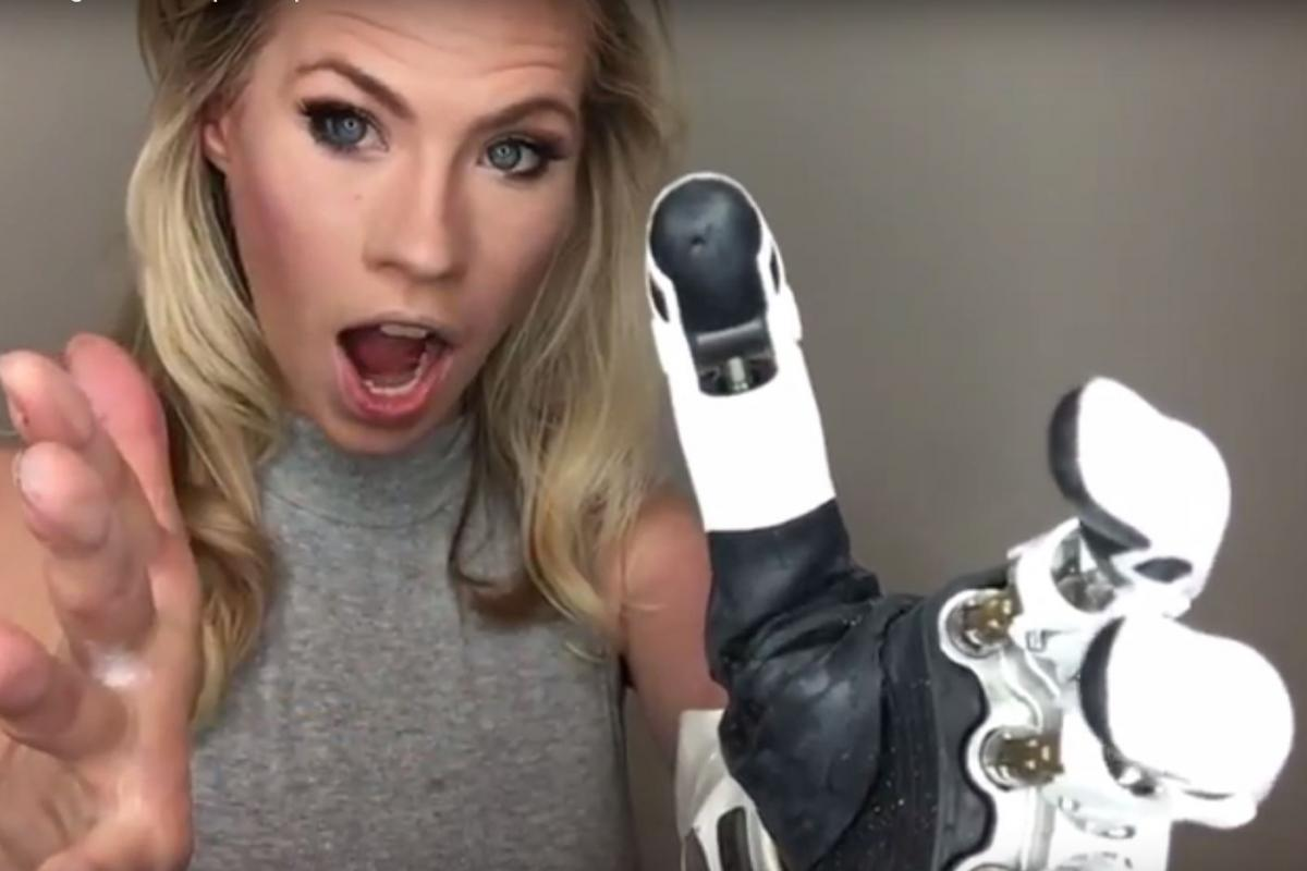 Former Miss America Contestant Tries Out Mind-Controlled Bionic Arm