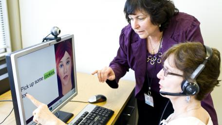 Our doctors work on speech and language skills with their patients