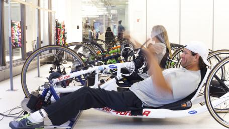 Handcycling at the Sports + Fitness Center