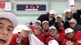 Blackhawks celebrate sled hockey win